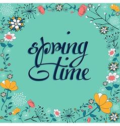 Spring vintage flower background vector image vector image