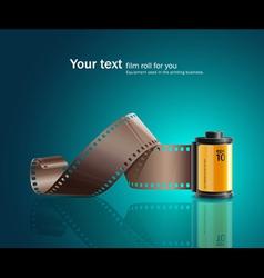 camera film roll yellow vector image vector image
