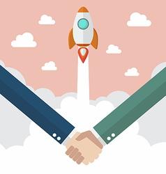 Handshake deal business vector image