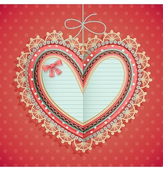 valentines day vintage card vector image vector image