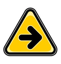 Arrow right sign triangular sticker vector