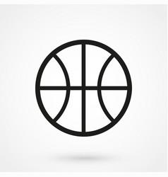 basketball icon black on white background vector image
