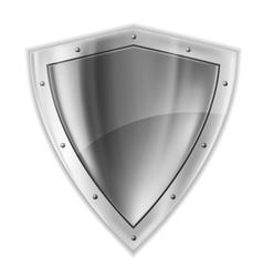 Bright silver shiled vector image