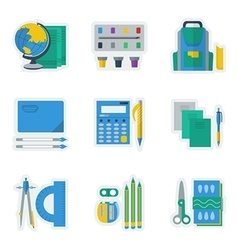 Colored icons for school items vector image vector image