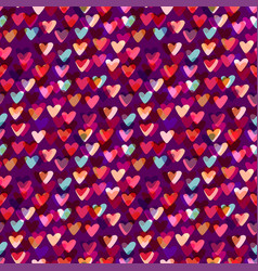 hearts seamless pattern fashion background vector image