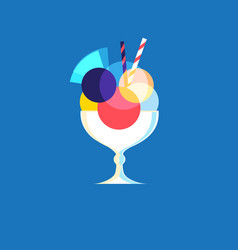 icon of bright tasty ice cream vector image vector image