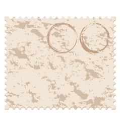 old blank grunge post stamp vector image