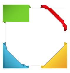 origami corner ribbons vector image
