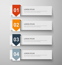 paper infographic26 vector image vector image