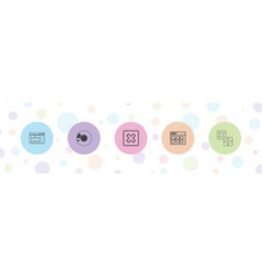 5 software icons vector