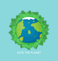 a happy earth day banner for environment safety vector image