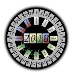 Abstract calendar for 2018 vector