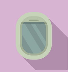 Aircraft repair window icon flat style vector