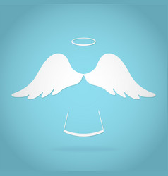 angel greeting card stock design vector image