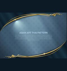 Asian pattern background thai art frame border vector