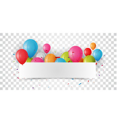 birthday celebrations banner vector image