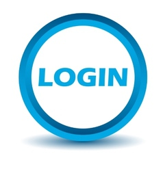 Blue login icon vector