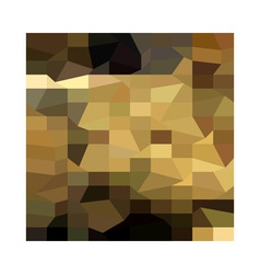 Brown Crowd Low Polygon Background vector