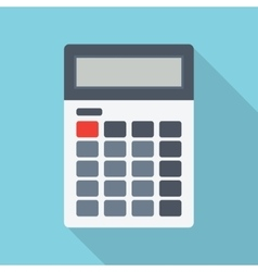Calculator isolated on a colored background vector