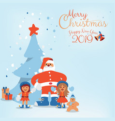 cartoon character of santa claus kids and vector image