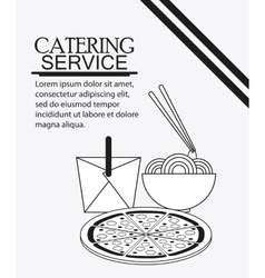 Catering service menu food icon vector