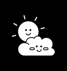 children cartoons dark mode glyph icon vector image
