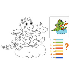 coloring book for kids math for children vector image
