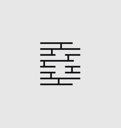 Construction letter b vector