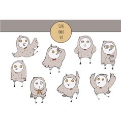 cute with hand drawn set of vector image