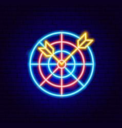 darts neon sign vector image