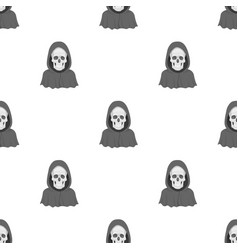 Death icon in cartoon style isolated on white vector