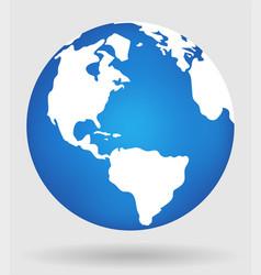 earth globe flat planet icon vector image