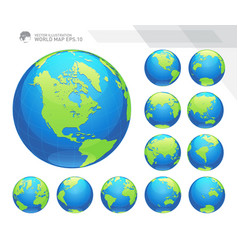 Earth globes sets vector