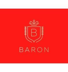 Elegant monogram letter B logotype Premium crest vector
