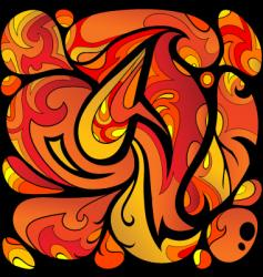 fire pattern vector image
