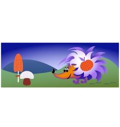 funny hedgehog vector image