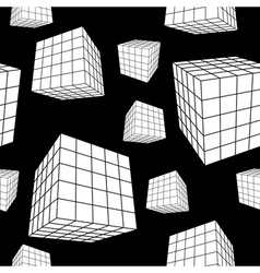 geometric cubes vector image