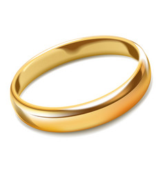 gold ring realistic marriage symbol jewelry or vector image