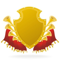 golden award and flourish vector image