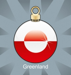 Greenland flag on bulb vector