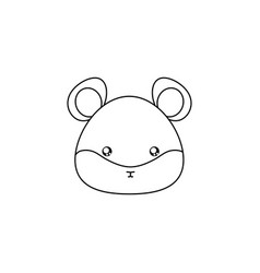 Hamster drawing face vector