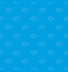 Hat clown pattern seamless blue vector