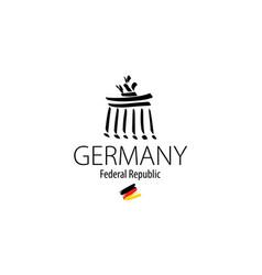 icon branderburg gate in berlin in germany vector image