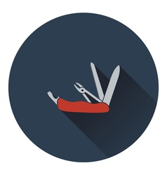 Icon of folding penknife vector