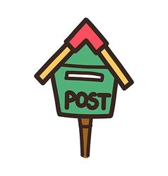 Icon post box vector