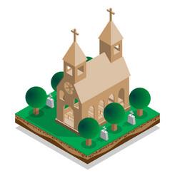 interior church vector image