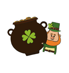 Irish leprechaun icon vector