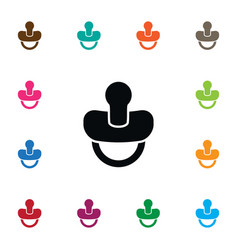 Isolated teat icon soother element can be vector