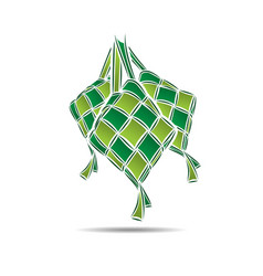ketupat rice dumpling food vector image