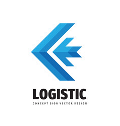logistic company - concept business logo template vector image